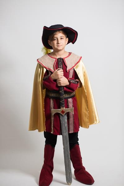 Çocuk-Şovalye-Silahşör Kostum.