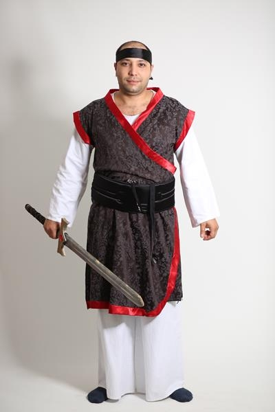 beyaz-siyah-samuray-japon-erkek-kostumu