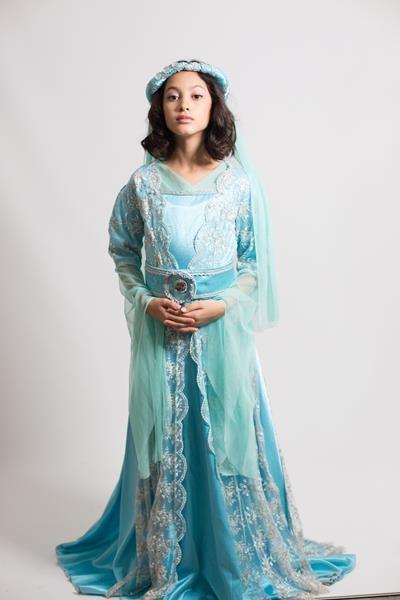 kadın-kostümü-turkuaz-osmanlı-kostumu