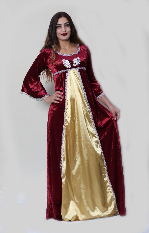 kırmızı-Orta-çağ-Kostümü