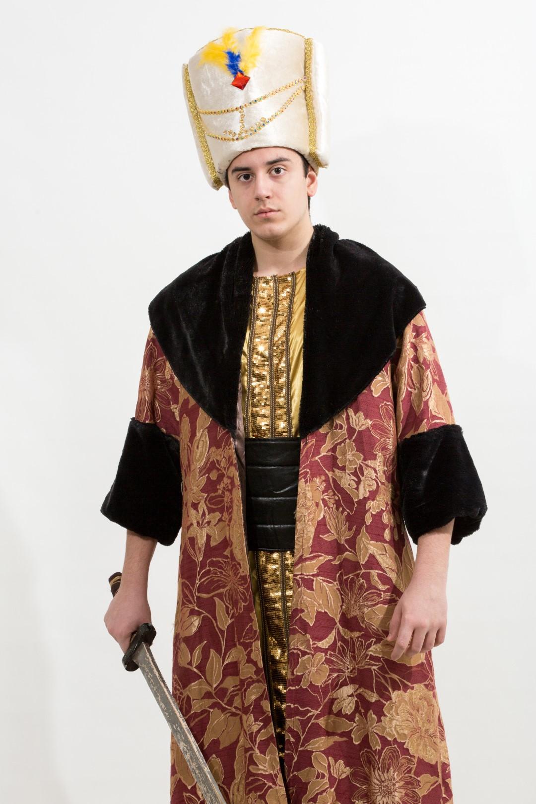 osmanlı-padişah-kostum-siyah-kurk
