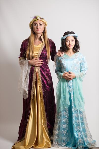 osmanlı-kadın-kostümü-turkuaz-osmanlı-kostumu