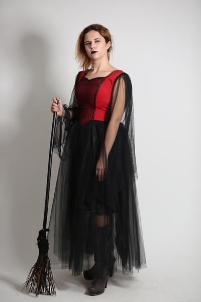 Yetişkin Gotik/Cadı Kostümü