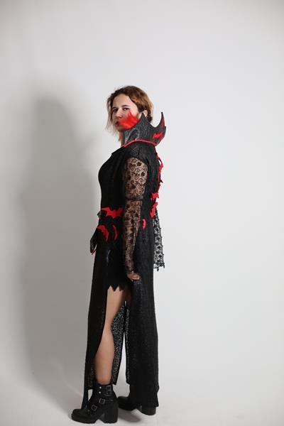 Yetişkin Tasarım Kadın Vampir/Vampirella Kostümü