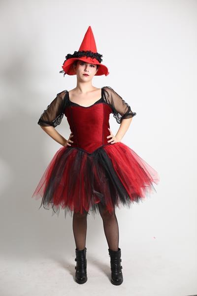 Yetişkin Tütülü Cadı Kostümü